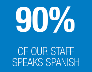 90% of our staff speaks Spanish