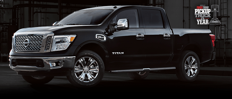 2017 Nissan Titan in Red Rear | 2017 Truck Trend Truck of the Year