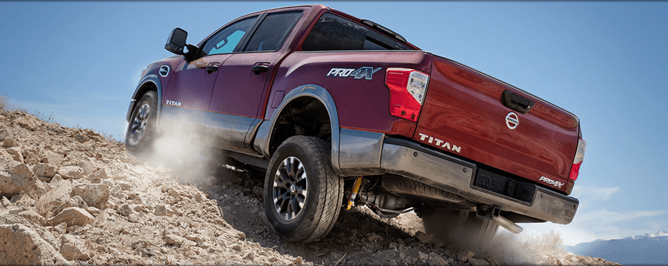 2017 Nissan Titan in Red Rear
