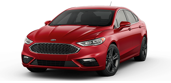 red 2017 Ford Fusion Sport