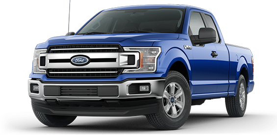 blue 2018 Ford F-150 XLT Supercab