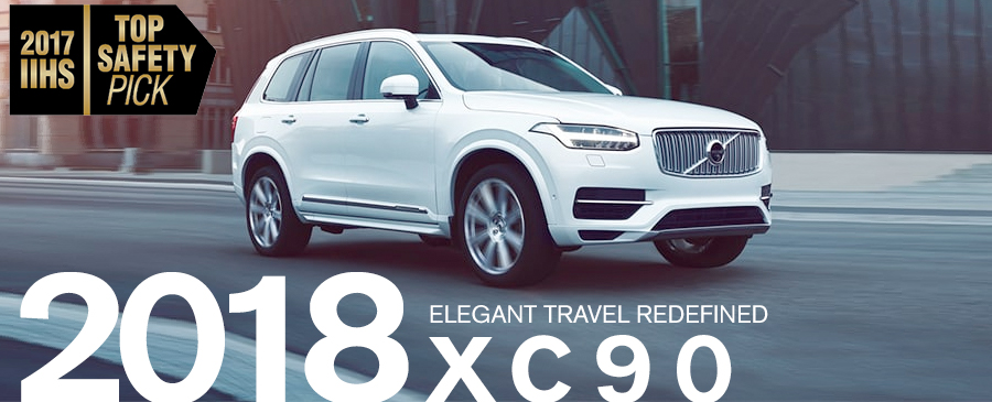 white 2018 volvo xc90 on the road