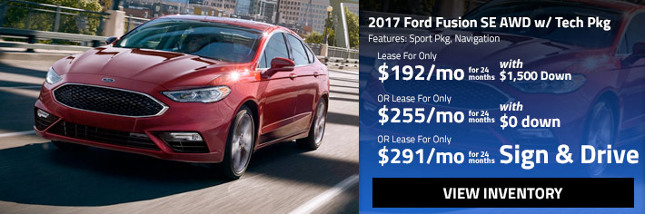red 2017 Ford Fusion SE