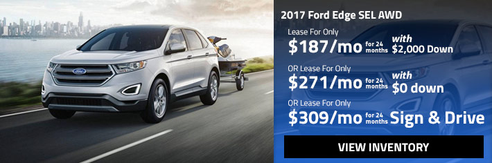 silver 2017 Ford Edge SEL