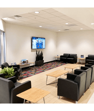 DCH Honda of Oxnard dealership waiting room