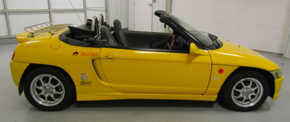 Yellow 1991 Honda Beat Convertible