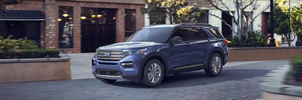 2020 Ford Explorer driving through town