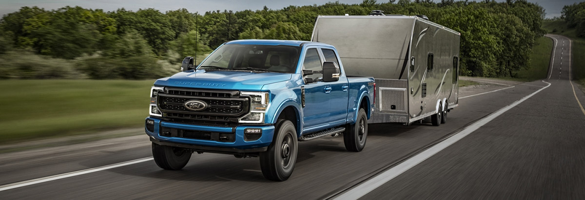 2020 Ford Superduty towing trailer