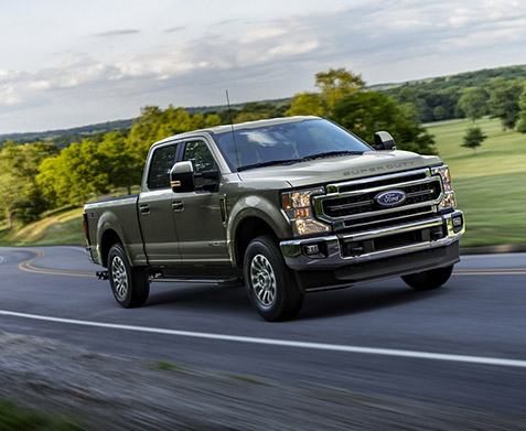 2020 Ford Superduty on road