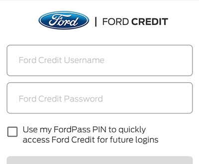 Ford Pass App Credit