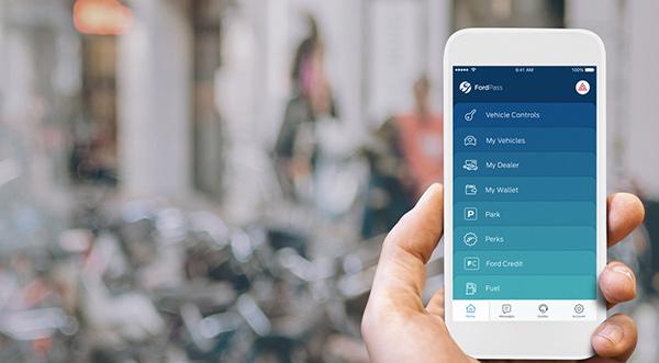 Ford Pass Main App screen