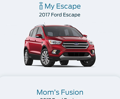 Ford Pass App Vehicle Selection