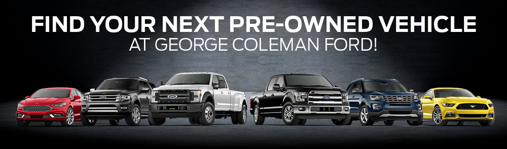 Find Your Next Pre-Owned Vehicle At George Coleman Ford!