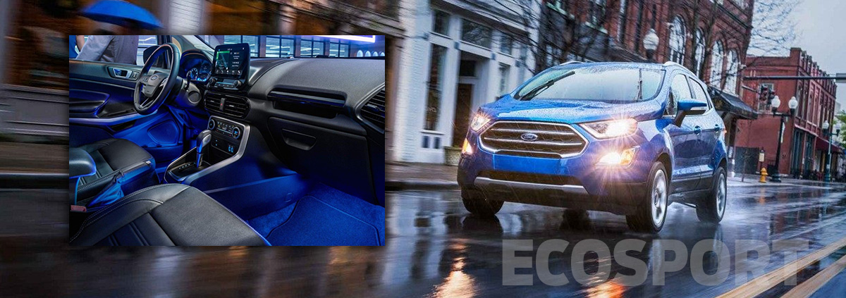 2018 Ford Ecosport on wet road