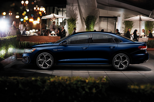 2020 Volkswagen Passat parked at night
