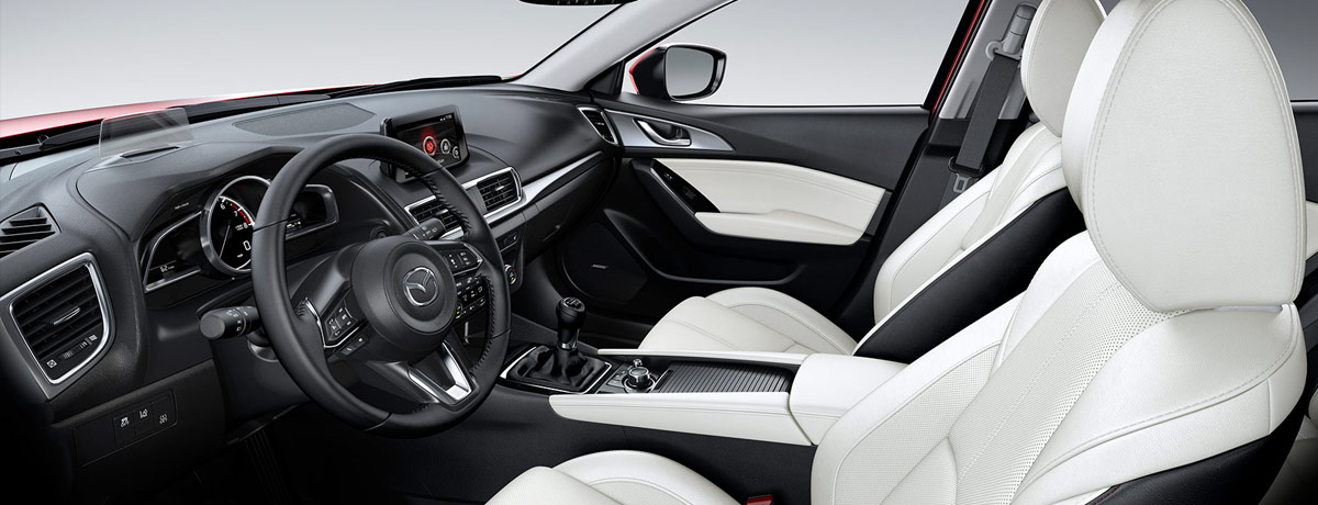 2018 Mazda 3 Sedan interior side – white