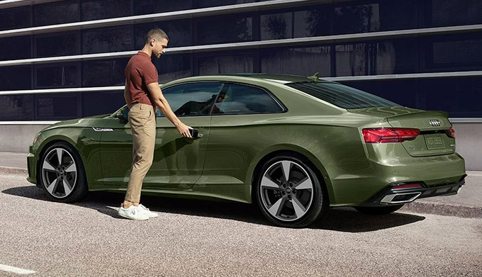 2020 Audi with man getting in