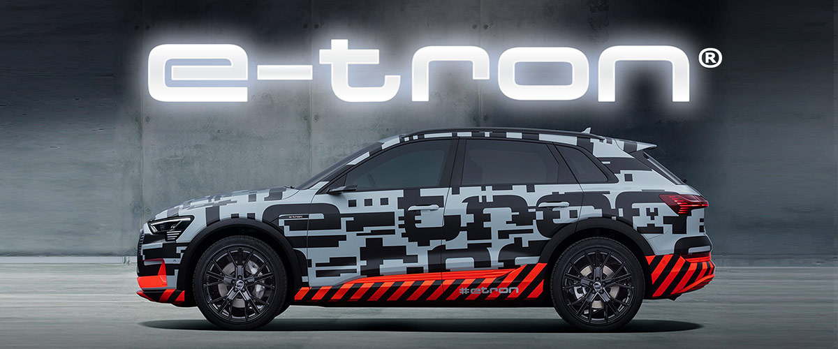 the Brand New Audi E-Tron header