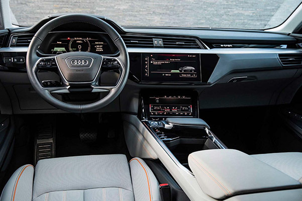 the Brand New Audi E-Tron interior