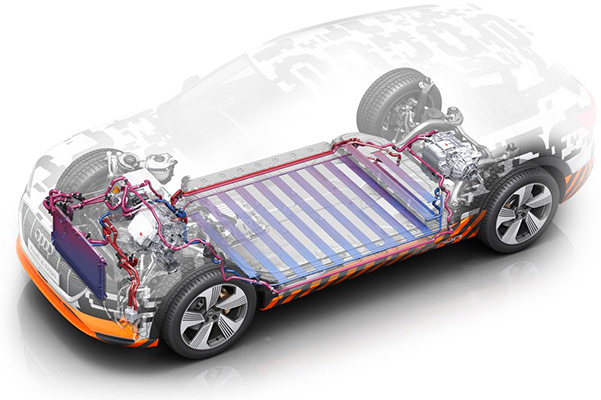 the Brand New Audi E-Tron battery