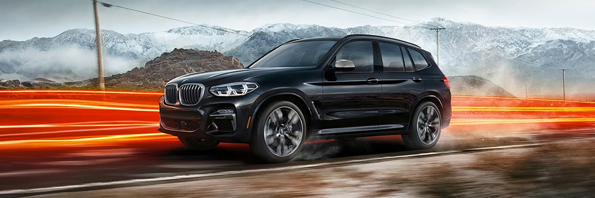 2020 BMW X3 on highway