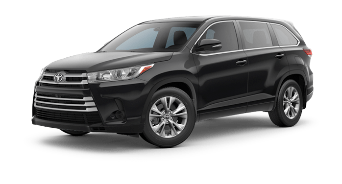 2018 Toyota Highlander SUV blue front view