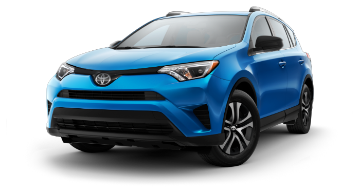2018 Toyota RAV4 blue front view