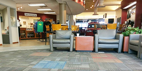 Baxter CDJR La Vista interior dealership image