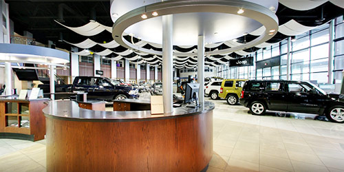 Baxter CDJR West Dodge interior dealership image