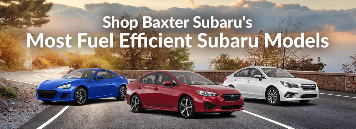 Shop Baxter Subaru's Most Fuel Efficient Subaru Models