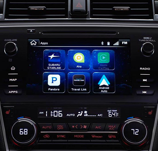 Available STARLINK 8.0-inch Multimedia Navigation with Apple Carplay, Android Auto, and Pandora integration