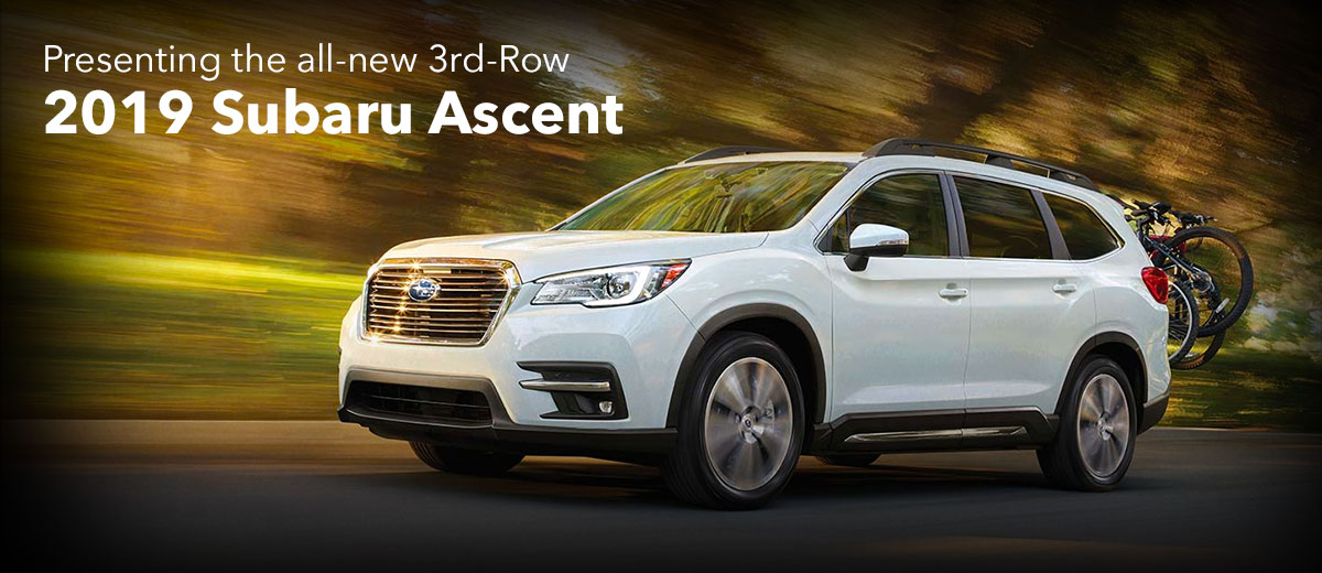 Lease A Subaru >> Buy Or Lease A New 2019 Subaru Ascent Subaru Sales In