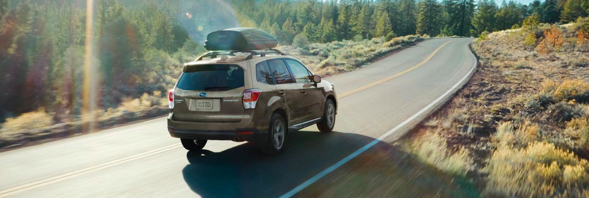 The 2018 Subaru Forester rear view