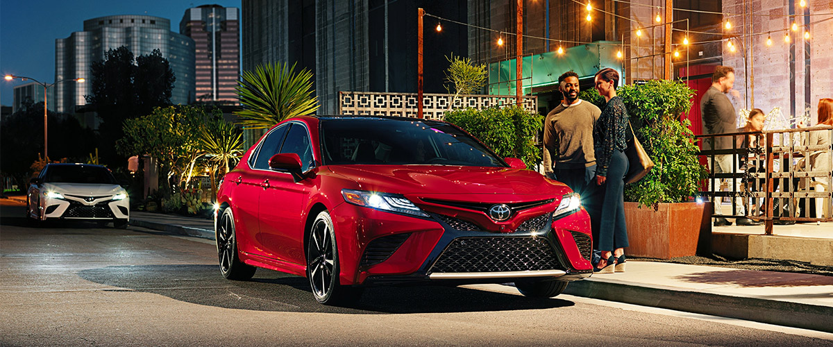 The 2019 Toyota Camry. Header