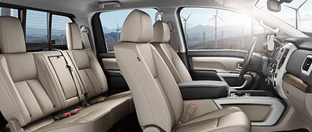Nissan TITAN® SL shown in Beige Leather
