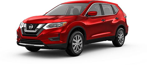 2018 Nissan Rogue Front Exterior in Red