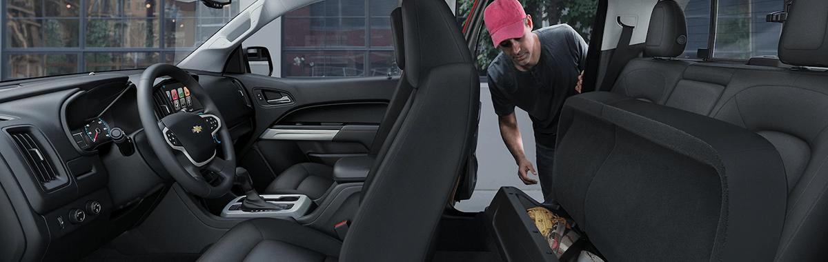2018 Chevy Colorado fold away rear seat
