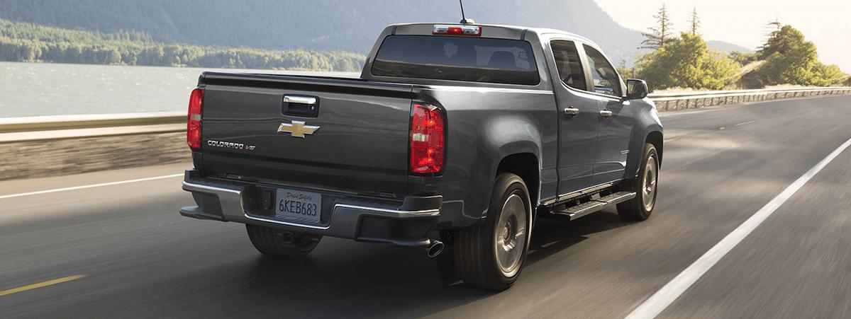 2018 Chevy Colorado rear on highway