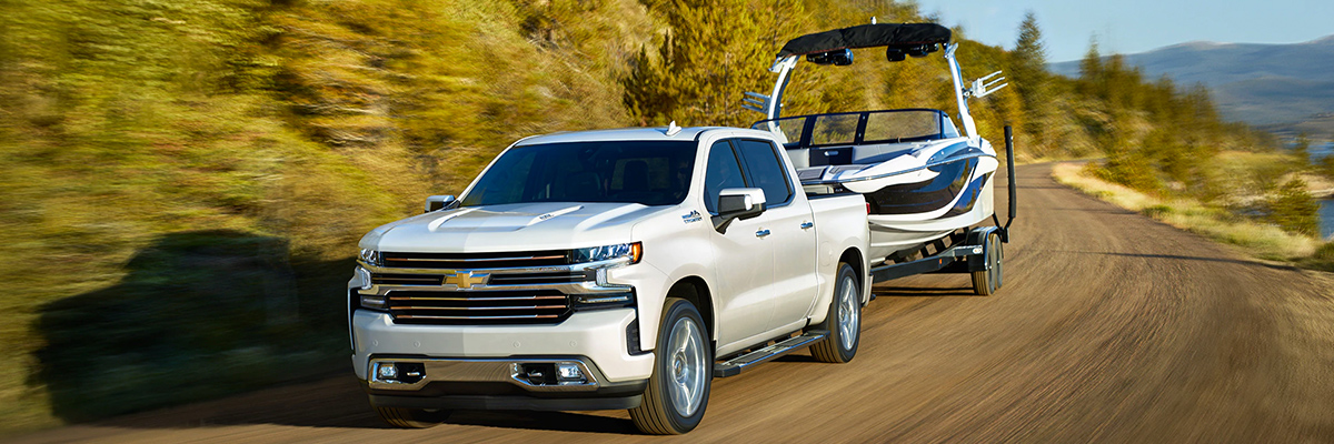 Chevy Silverado 1500 towing a boat
