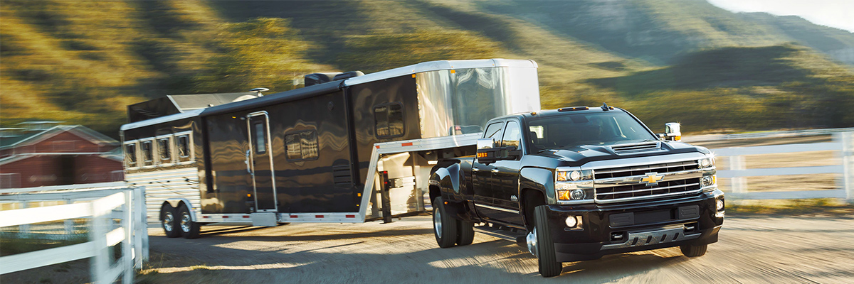 Chevy Silverado 2500 towing a trailer