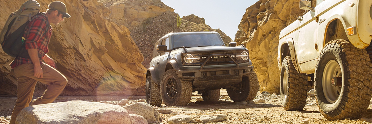 2021 Ford Bronco in canyon