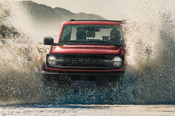 2021 Ford Bronco through creek