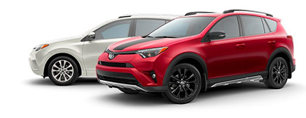 2018 Toyota RAV4 - Shown in Red and White