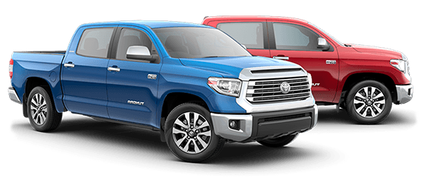 2018 Toyota Tundra - Shown in Blue and Red