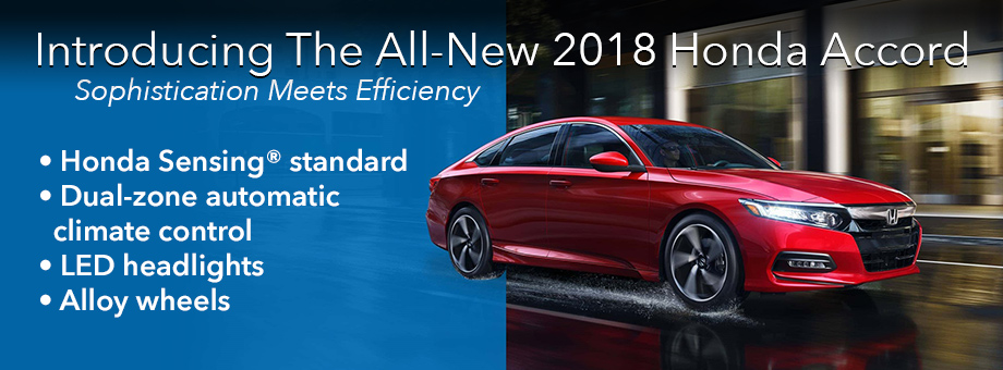 Introducing The All-New 2018 Honda Accord