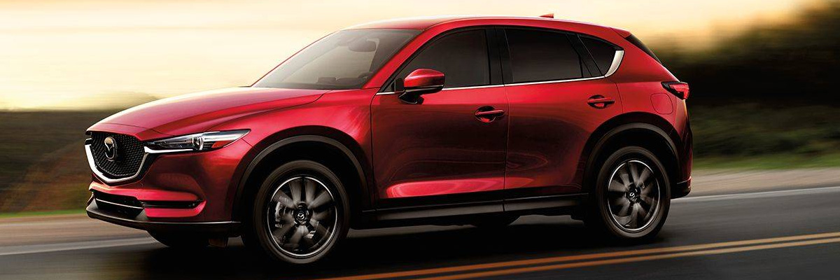 2018 Mazda CX-5 driving on highway
