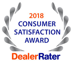 2018 Consumer Satisfaction Award Dealer Rater