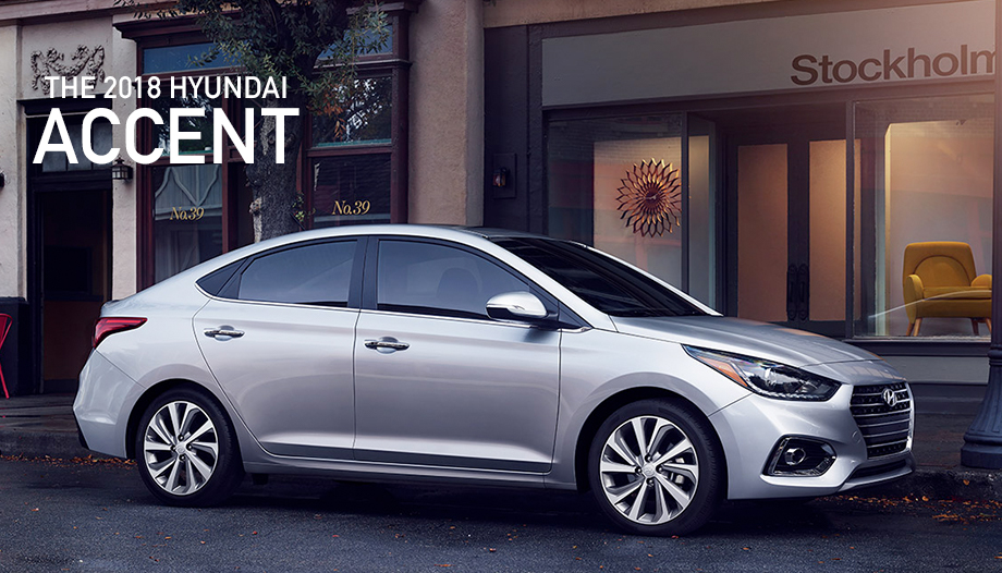 The 2018 Hyundai Accent Silver Front Exterior Near Cambridge