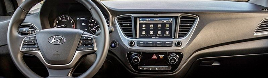 The 2018 Hyundai Accent Interior Near Cambridge