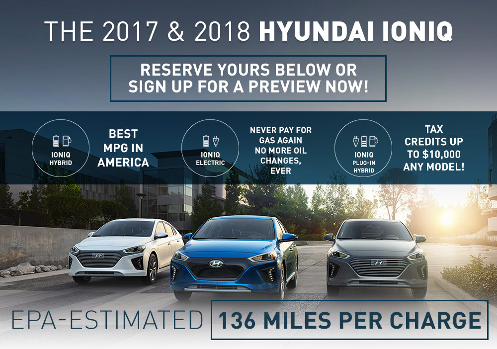 The 2017 & 2018 Hyundai Ioniq